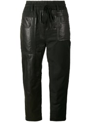 Haider Ackermann Leather Patch Trousers Black