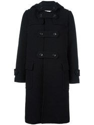 Comme Des Garcons Hooded Double Breasted Coat Black