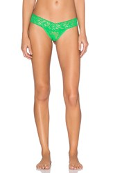 Hanky Panky Signature Lace Low Rise Thong Green