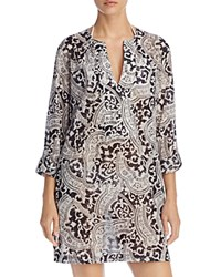 Echo Tropez Paisley Tunic Cover Up Black
