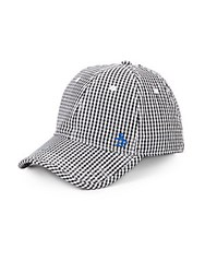 Original Penguin Ray Ray Cotton Gingham Baseball Cap Black