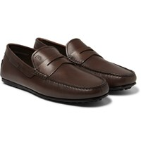Tod's City Gommino Leather Loafers Brown