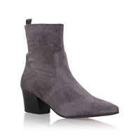 Carvela Silky High Heel Ankle Boots Light Grey
