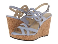Adrienne Vittadini Camber Adriatic Blue Metallic Women's Wedge Shoes