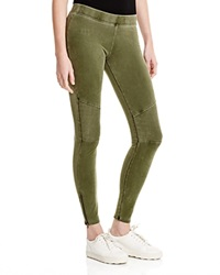 Three Dots Ankle Zip Leggings Washed Palm Breeze