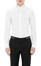 Givenchy Zipper Detailed Poplin Shirt White