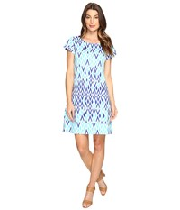 Hatley Tee Shirt Dress Sunbleached Ikat Clear Women's Dress Blue