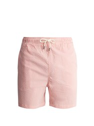 Solid And Striped The Classic Seersucker Swim Shorts Pink