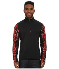 Spyder Webstrong Dry W.E.B. T Neck Top Black Volcano Men's Long Sleeve Pullover