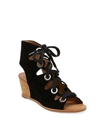 Dolce Vita Lei Open Toe Wedge Sandals Black