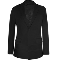 Givenchy Black Slim Fit Cotton Crepe Blazer
