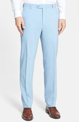Santorelli Men's Big And Tall Flat Front Travel Trousers Ocean