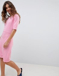 B.Young 3 4 Sleeve Jersey Dress Bubble Gum Pink