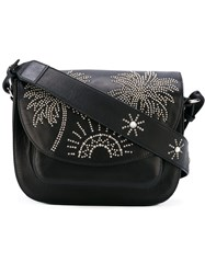 Htc Hollywood Trading Company Sunshine Palm Tree Studded Shoulder Bag Women Leather One Size Black