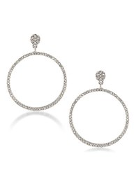 Carolee Silvertone Gypsy Hoop Earrings