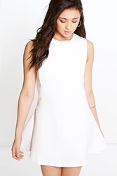 Boohoo Sia Sporty Textured Fit And Flare Dress White