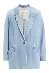 Closed Faded Denim Blazer Blue