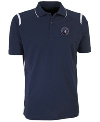 Antigua Minnesota Timberwolves Merit Polo Shirt Navy