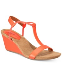 Styleandco. Style Co Mulan Wedge Sandals Created For Macy's Women's Shoes Watermelon