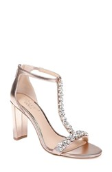 Jewel Badgley Mischka Morley Sandal Rose Gold