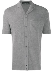 Neil Barrett Short Sleeved Jumper Grey