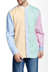 Mine Colorblock Long Sleeve Linen Shirt Multi