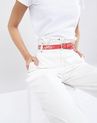 Pieces Western Embroidered Belt Flame Scarlet