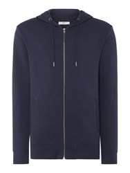 Minimum Men's Zipped Hoodie Dark Blue