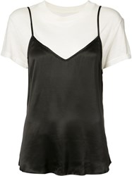 Rta Double Layered T Shirt Camisole Black