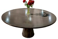 James De Wulf Black Locking Round Dining Table