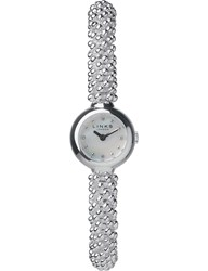 Links Of London 6010.0601 Effervescence Star Silver Plated Sapphire Watch