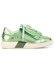 Paloma Barcelo Metallic Sneakers Green