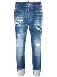 Dsquared2 London Stonewashed Ripped Jeans Blue