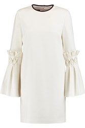 Mother Of Pearl Dixie Smocked Twill Mini Dress Ivory