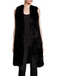 Michael Michael Kors Long Faux Fur Front Vest Black