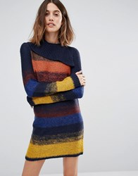 Vero Moda Stripe Cowl Neck Tunic Multi