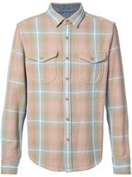 Outerknown Heavy Checked Shirt Men Cotton M Brown