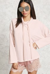 Forever 21 Cowl Neck Sweatshirt Pink