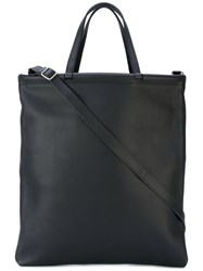 Isaac Reina 'Tube' Tote Bag Unisex Calf Leather One Size Black