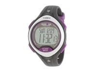 Timex Ironman Road Trainer Heart Rate Monitor Black Silver Tone Purple Resin Strap Watch Black Silver Purple Watches