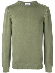 Dondup Long Sleeve Fitted Sweater Green