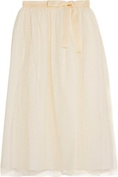 Red Valentino Redvalentino Point D'esprit Tulle Skirt Ivory