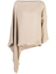 Dusan Asymmetric Knit Sweater Brown