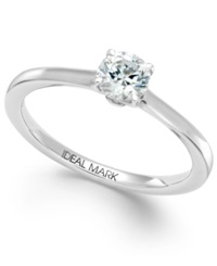 Macy's Idealmark Certified Diamond Solitaire Engagement Ring In Platinum 1 2 Ct. T.W.