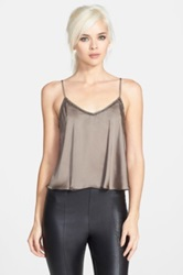 Astr Bead Trim Camisole Metallic