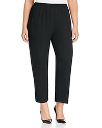 Eileen Fisher Plus Silk Straight Ankle Pants Black