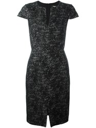 Paule Ka Cap Sleeve Shift Dress Black