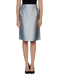 Dandg D And G Knee Length Skirts Sky Blue