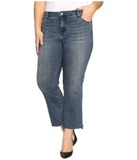 Kut From The Kloth Plus Size Reese Crop Flare Jeans In Perfection Perfection Women's Jeans Blue