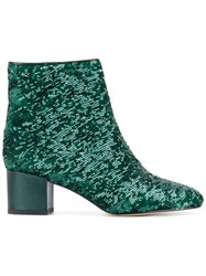 Marc Ellis Sequinned Ankle Boots Green